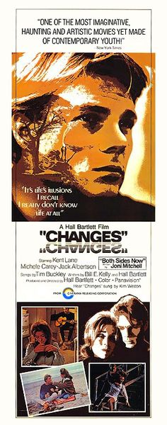 """CHANGES 1969.  A Wild Generation is Out To Make """"Changes."""" It's the late sixties, a time of protest, peace signs, free love, revolution, drugs and searching for a meaning to life.   Kent is a college dropout who goes on a solo road trip in search of his identity and life's purpose and to discover what's """"out there."""" Changes has minimal dialog; the story moves forward as we hear Kent's thoughts and the soundtrack's song lyrics. On DVD."""