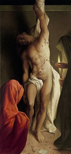 St.Sebastian, Michael Triegel (geb.1969)  saints always get the clingy draperies that never fall off