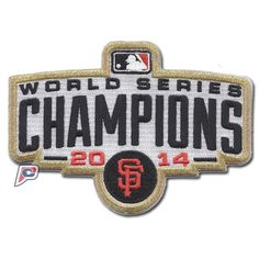 2014 San Francisco Giants MLB World Series Champions Ring Ceremony Patch With Gold Border