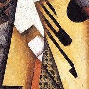 """Guitarra sobre una silla"" Juan Gris (1913) Periodo: Cubismo sintético. Género: Bodegón."