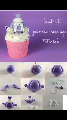Fondant Princess Carriage Tutorial by Nina Maltese Fondant Tips, Fondant Cakes, Cupcake Cakes, Cake Topper Tutorial, Fondant Tutorial, Cake Decorating Techniques, Cake Decorating Tutorials, Torta Princess, Decoration Patisserie