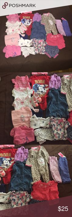 20 pieces...Gently used newborn clothes. Gently used newborn clothes One Pieces Bodysuits