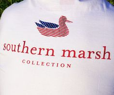 Southern Marsh Authentic Flag Tee in White by Southern Marsh #$0-to-$50