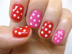 gel nail チッピ dot colors* nail / kayo