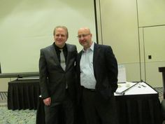 Visiting with Ronald Reagan's speechwriter, Mark Klugmann, at Influence Boot Camp in 2013.