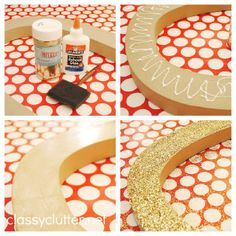 DIY Glittered Letters for the Holidays