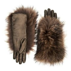 Aquatalia Fur Glove ($395) ❤ liked on Polyvore featuring accessories, gloves, fur gloves and metallic gloves