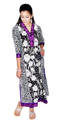 20%Off DIWALI SPARKLE OFFER floral Printed Embroidered Neck Kurti Top Dress