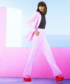 Kati Nescher dons vibrant hues for Harper's Bazaar US September 2015 by Tom Munro [editorial]