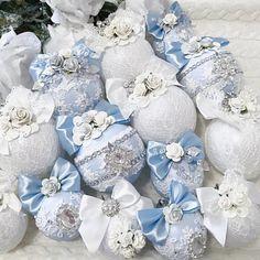 Shabby Chic Christmas Ornaments, Christmas Baubles, Wreaths, Diy, Inspiration, Home Decor, Bella, Ideas, Xmas