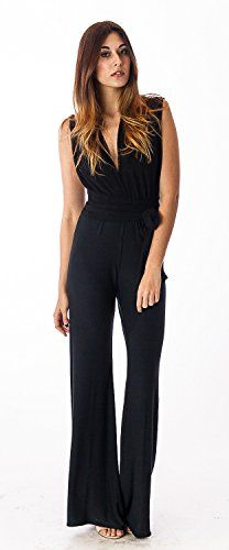 8dcf6ab4c5bf8d CastlesCouture Womens Deep V Jumpsuit     Amazon most trusted e-retailer   RomperisSexy
