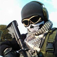 Unisex Warm Winter Scarf Man Collar Scarf  Bufanda Cotton Echarpe Men Scarf  Ghost Masks Skull Paintball Costume Helloween Mask