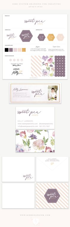 Premade branding / semi custom logo / premade logo / branding for photographers / logo design / semi custom logo / brand kit / brand board / brand ideas / color palette