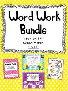 268 pages of games and activities for blends, digraphs, and long/short vowels! {Word Work Bundle}