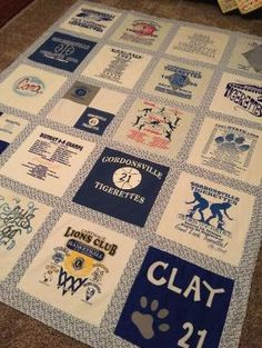 Cara's T-shirt quilt. 2019 Cara's T-shirt quilt. The post Cara's T-shirt quilt. 2019 appeared first on Quilt Decor. Quilting Projects, Quilting Designs, Sewing Projects, Craft Projects, Quilting Ideas, Sewing Ideas, Craft Ideas, Sewing Tips, Sewing Crafts