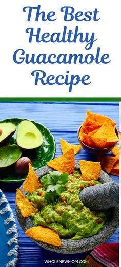 This Best Ever Guacamole Recipe is easy simple and quick to make. We show you how to make this homemade guacamole dip step by step with fresh avocado. You can make it without cilantro if you prefer. AIP, Dairy Free and Vegan Yummy Healthy Snacks, Healthy Appetizers, Healthy Salads, Healthy Dinner Recipes, Real Food Recipes, Guacamole Recipe Easy, Guacamole Dip, Homemade Guacamole, Veggie Chips