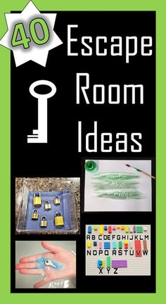 40 puzzles for you to create an escape room!  DIY escape room ideas for kids or adults.  Use materials from around your house to create an escape room your players won't soon forget.   #escaperoompuzzles #escaperoomideasforkids #escaperoomideas #escaperoom #escaperoomdiy #elementaryescaperooms