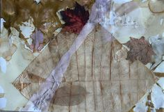 Stained, Burned Tissue Collage: An Early Frost