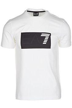 Emporio Armani EA7 t-shirt manches courtes ras du cou homme blanc: T-shirt Ea7 Emporio Armani – Col rond – Manches courtes – Logo EA7…