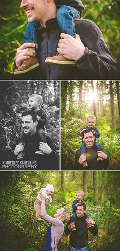 A walk in the forest: lifestyle family photo shoot by Kimberlee Schelling Photography
