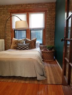 Tabitha's Infusion of Color — Small Cool 2016 Interior Styling, Interior Design, Cool Apartments, Brick And Stone, Apartment Therapy, Small Spaces, Beautiful Homes, Cottage, House Design