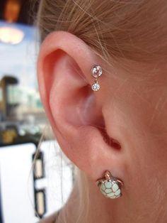 htcaz:    Forward helix dangle. Jewelry from the always awesome Anatometal!