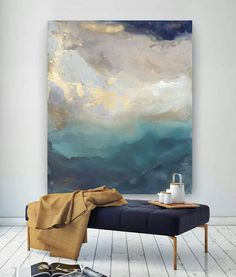 hand-painted original abstract modern art contemporary painting mountain and sky wall art decoration texture artwork Santa Helena, Art Design, Interior Design, Design Ideas, Design Elements, Art Projects, Design Projects, Art Photography, Creative Photography