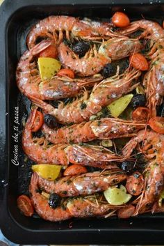 Quick and easy baked prawns-Gamberoni a forno facili e veloci Baked king prawns Kitchen that passes you - Bean Recipes, Fish Recipes, Seafood Recipes, Cooking Recipes, Healthy Recipes, Shrimp Dishes, Fish Dishes, Fish Salad, Antipasto