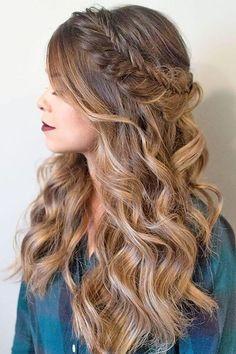 косичка ободок с распущенными волосами