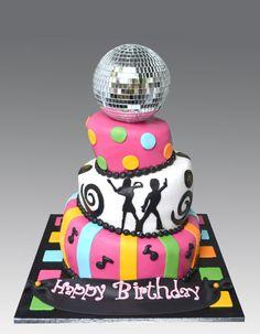 """DISCO~BALL"" Dance Party~Cake Emily birthday cake idea"