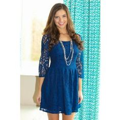 Good Thoughts Dress-Navy - $52.00