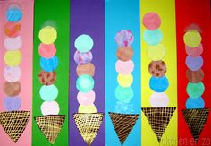 Kids Artists: I scream for ice cream (I'm a little obsessed with food imagery- I blame Wayne Thiebaud) Kindergarten Art, Preschool Math, Math Activities, Patterning Kindergarten, Math 2, Church Activities, Preschool Ideas, Ice Cream Art, Ice Cream Theme