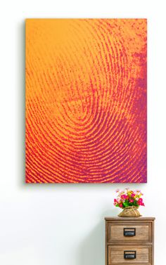 Canvas art that is different from all others, Fingerprint Decor renders the uniqueness of your own fingerprint on canvas, using a photo of your fingertip. Choose the colors that reflect your personality, and your art comes ready to hang as a thick, high-quality stretched canvas. Click through to learn more at Vapor Sky.