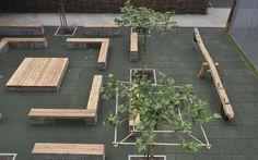 Schoolplein in Rotterdam. Door Ton van Beek Buitenruimte & Architectuur Outdoor Classroom, Yard Design, Learning Centers, Eco Friendly, Green, Plants, Public Spaces, Studying, Friends