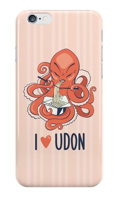 """""""I love udon"""" iPhone Cases & Skins by LunaSolvo 