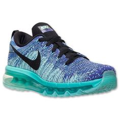Womens Nike Flyknit Air Max Running Shoes - 620659 501 | Finish Line | Hyper Grape/Black/Hyper Turquoise