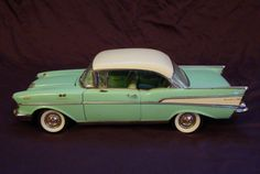 1957 Chevy Bel Air / Model Car / Vintage / OMG it may be a Toy-Model Car but my Uncle had the real thing except in turquoise Awesome