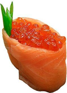 Red caviar appetizer. Very easy appetizer with red caviar and salted salmon.An excellent choice for any party.