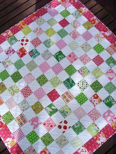 Red Pepper Quilts: Raspberry Lemonade Quilt- LOVE!