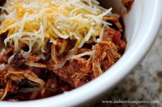 Slow Cooker Chicken Chili; cor
