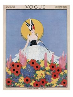 ⍌ Vintage Vogue ⍌ art and illustration for vogue magazine covers - January 1915 by Margaret B. Bull