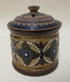 Sale D051115 Lot 75  A Doulton stoneware tobacco jar, 'the pottery fulham' incised on the base  - Cheffins
