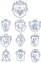 Bluework oriental shield Designs bucilla ribbon embroidery kits for beginners