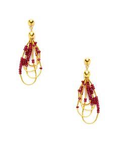 Rain Ruby 4 Strand Open Teardrop Earrings by Gurhan on Gilt.com