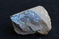 Raw Australian Opal Mineral Specimen with Blue Color, Sample of Rare Precious Boulder Opal in Natural Form ethically sourced from Mine, Cool. #jewelry #jewelrymaking #jewelrydesign #boho #bohochic #gypsy #bohostyle #bohojewelry #opal #stone #gemstone #pearl   #raw
