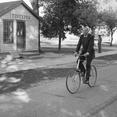 Ten years after his historic Moon walk, Neil Armstrong visited the Wright Brothers' home and cycle shop at The Henry Ford. Armstrong, an Ohioan like the Wrights, paid tribute to the brothers by riding a bicycle through Greenfield Village. Space Shuttle Challenger, Matt Anderson, Cycle Shop, Wright Brothers, Neil Armstrong, Space Race, Man On The Moon, Apollo 11, Henry Ford