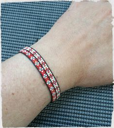 Bracelet wrap bicolor by KforU on Etsy Bracelet Wrap, Swarovski Bracelet, Braided Bracelets, Loom Patterns, Loom Beading, Bead Weaving, Leather Cord, Etsy, Give It To Me