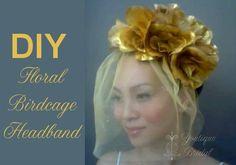 DIY Floral Birdcage Headband Tutorial
