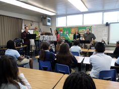 A group of San Diego Symphony musicians perform a free concert at a local school.