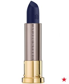 Are you brave enough to go blue? Try out new Urban Decay Vice Lipstick in Heroine at Macy's for a makeup look that's sure to be one of your most dramatic yet.